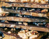 OMG Toffee, English Toffee, Butter Crunch Dark Chocolate Bark 4oz