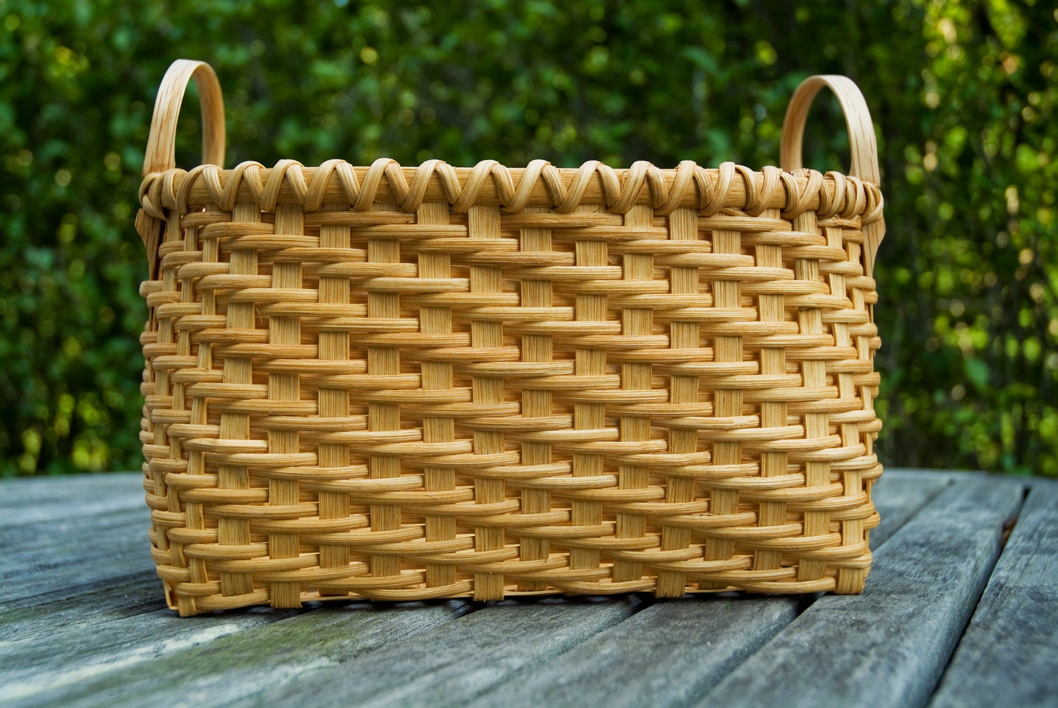Basket Weaving Name : Traditional shaker spoon basket twill weave nina by