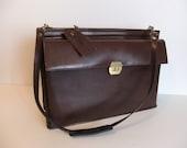 Vintage Leather Tote, Shoulder Bag, Briefcase