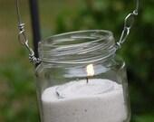 Items Similar To Hanging Baby Food Jar Candle Lantarns Set