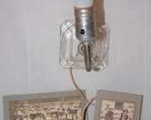 VINTAGE  Glass Wall Lamp-Shabby Chic-French Apartment-Cottage Chic