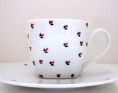 Flower Buds Teacup and Saucer Set