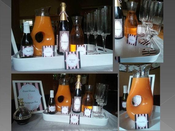 Bridal Shower PRINTABLES Paris Themed - Instant Download DIY Printable Wine Bottle Labels