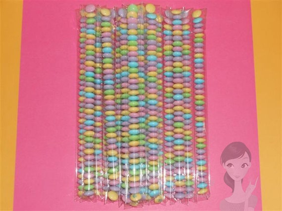 100 1x10 Crystal Clear Cellophane Test Tube Wedding Birthday Party Favor Self Sealing Adhesive Reclosable Bags