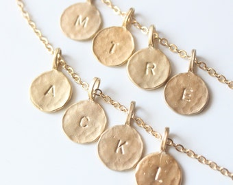Lovely Gold Vermeil Initial Necklace - One Pendant on Chain