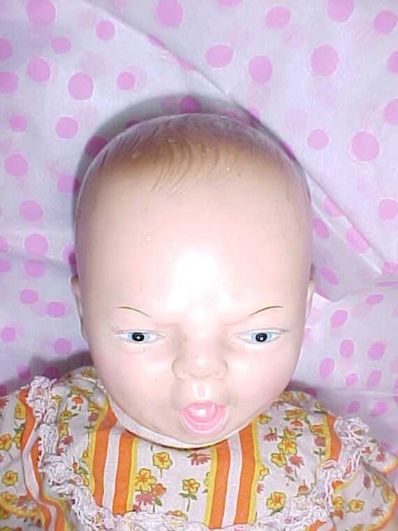 Horsman Crying Baby Vinyl Cloth Doll 1980