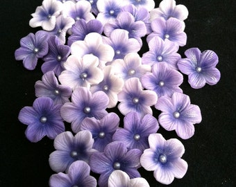 Gum Paste Blossoms Different Shades of Purple