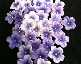 Gumpaste Blossoms Different Shades of Purple Gum paste 25 piece set
