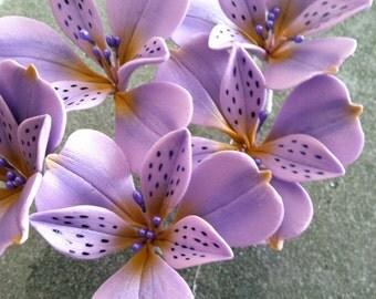 GumPaste Alstroemeria Flower Cake Decoration (Lavender)