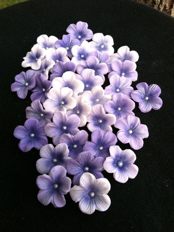 Gum Paste Blossoms Different Shades of Purple