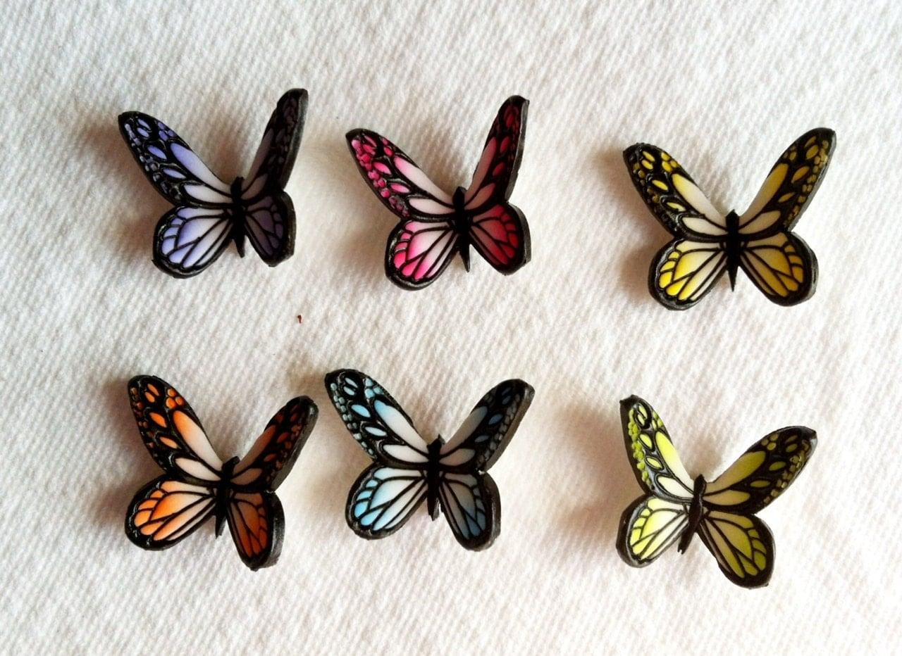 Cake Decorations Edible Gum Paste Butterflies Multi Colors