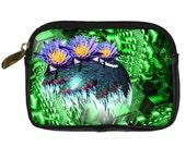 Cyber Garden Fractal leather gadget case-wallet- digital camera-cell phone-Math techno geek- Free ship