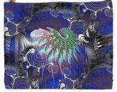 Fractal CyberWorks XL Artist ZIP Bag '  free ship ' psychedelic '  black light sensitive ' rave club party gear wear