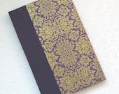 NEPAL - purple and gold address book