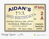 Vintage Sports DIY Custom Printable Birthday Invitation