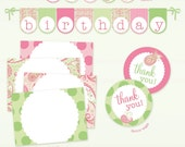 Paisley, Pretty and Pink Printable Party set - DIY