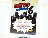 Comic Book Superhero Custom Invitation - DIY Printable