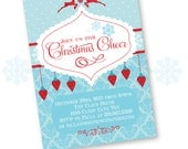 Merry Little Christmas Printable Party Invitation