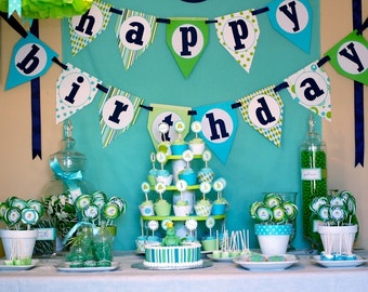 Frog Prince Happy Birthday Banner - DIY Printable