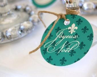 Joyeux Noel Printable Christmas Dinner - DIY - Charity listing