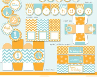 Giraffe Chevron Baby Shower or Birthday - DIY