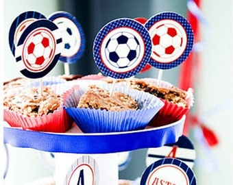 Soccer - Preppy Style Custom Printable Party - Customized - SALE!!!