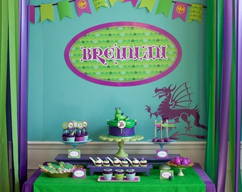 Dragon Birthday Printable Party - Puff the Magic Dragon As Seen On HOSTESS BLOG - SALE!!!