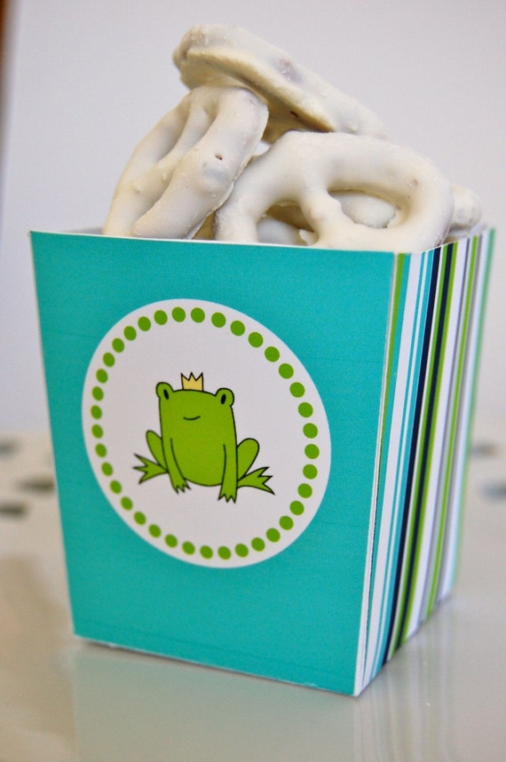 Frog Prince Snack and Popcorn Boxes - DIY Printable