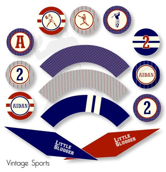 Items similar to Vintage Sports DIY Custom Printable ...