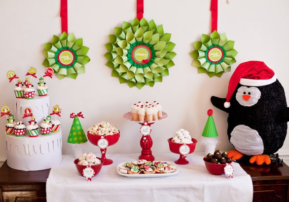 Penguin Christmas Printable Party - DIY - As seen in WOMEN'S DAY Magazine