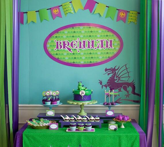 Dragon Birthday Printable Party - Puff the Magic Dragon As Seen On HOSTESS BLOG - SALE!!!