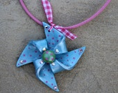 """ROO Adorable 2"""" Pinwheel Necklace (2)"""