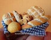 Assortment of dollhouse Mediterranean bread