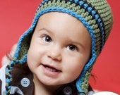 12 to 24 Month Earflap Hat in Meadow