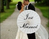 Just Married or Thank You Wedding Parasol