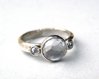 Engagement Ring wedding ring -Topaz ring ,925 silver sterling  ring ,Gift for her, Anniversary ring, Promise ring, Similar diamond stone,