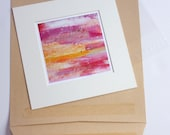 FREE POSTAGE. Mini Matted Abstract  Print.