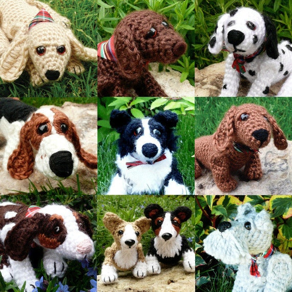 3 for 12 USD / Pup Crochet Patterns