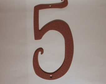 Number Antique Style Rustic Metal House Number New 5.75 inches tall New Old Stock