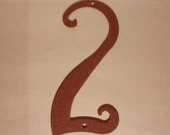Antique Style Rustic Metal House Number New 5.75 inches tall  New Old Stock