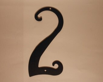 Antique Style Black Metal House Number New 5.75 inches tall New Old Stock