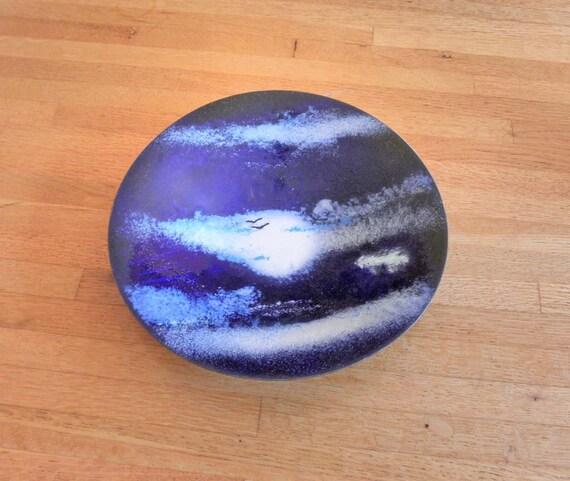 Enamel Handmade Bowl or Ashtray