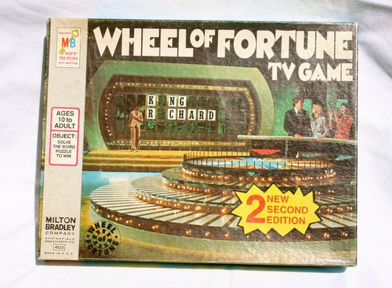 vintage board game 1975 2nd edition wheel of fortune tv game. Black Bedroom Furniture Sets. Home Design Ideas
