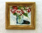 Small Encaustic Flower Painting