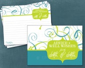Bold Swirl Advice & Well Wish Cards. Printable Cards for the Graduate, Baby or Bridal Shower by Tipsy Graphics. Any Colors