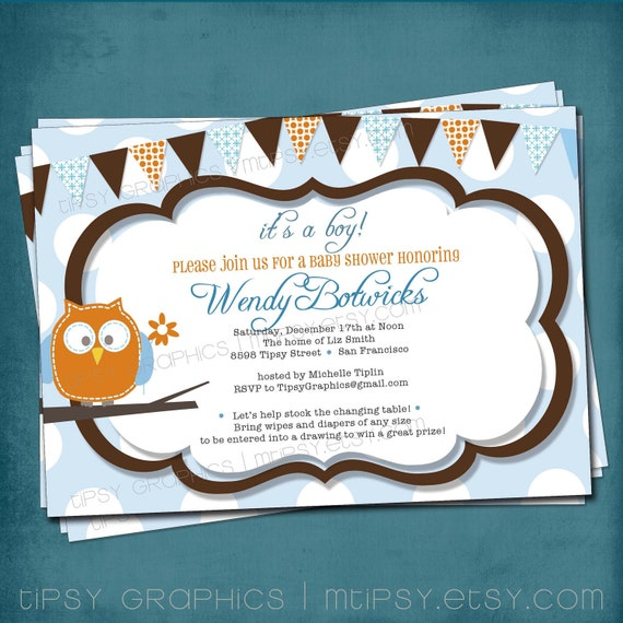 Owl Baby Invitations is amazing invitation sample