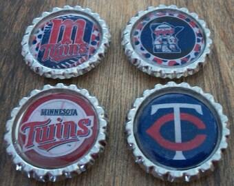 Minnesota Twins Bottlecap Magnets 4 Pack