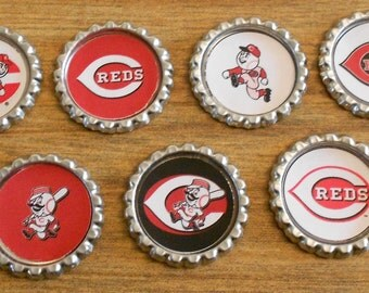Cincinnati Reds Bottlecap Magnets