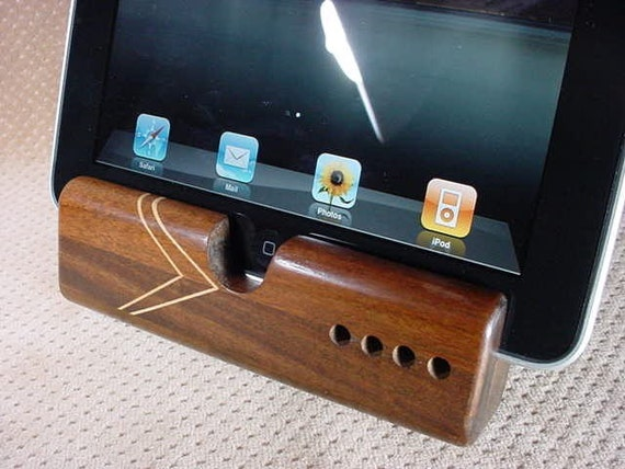 unique,artistic, functional,wood, iPad dock/stand S8/17.2