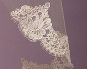 French Alencon Lace Swatch Sample